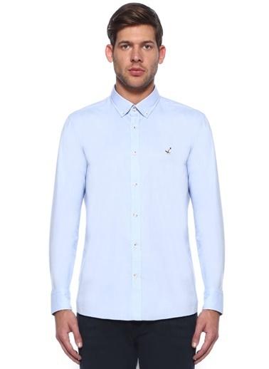 Beymen Club Slim Fit Uzun Kollu Gömlek Mavi